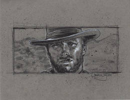 Clint Eastwood Drawing by JeffLafferty