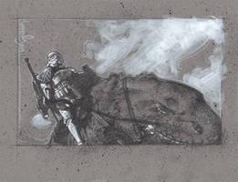Stormtrooper on Dewback by JeffLafferty
