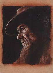Clint Eastwood Portrait by JeffLafferty