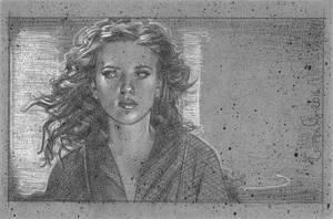 Scarlett Johansson as Black Widow by JeffLafferty