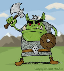 Orc Warrior by stuartmcghee
