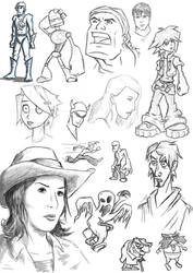 SketchDump 01 by markweallans