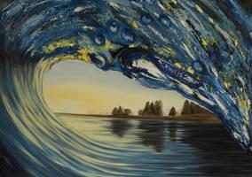 Sunset Wave by emkv