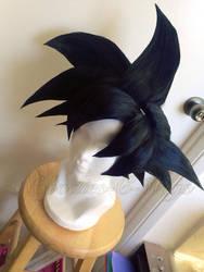 Goku (black variant) wig commission 2 by maggifan
