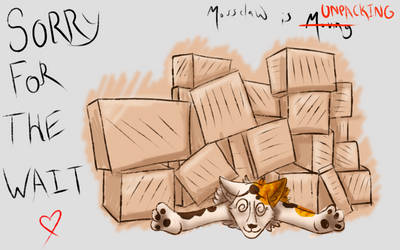 Unpacking and Internet Again by MossclawArt