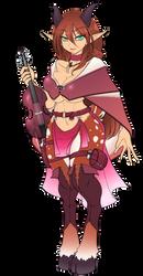 Dungeons and Dragons - Daeomi, Satyress Bard by Sarukin