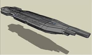 starship fleet carrier by emppyrean