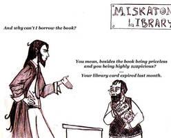 In the Miskatonic Library by dark-precipice