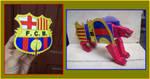 Logo del BARCELONA es un transformer de papel by Paperman2010