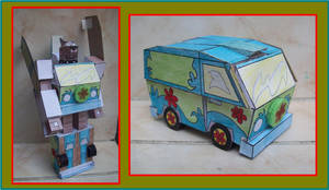 La Mistery Machine transformandose en Scooby Doo by Paperman2010