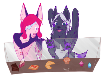A Bat and a Wolf-Magpie Walk into a Bakery... by Numbstrike