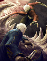 dante vs vergil by spadjm