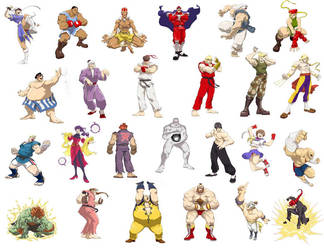 street fighter 4 wall by spadjm