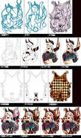 Process to draw my picture by DateNaoto