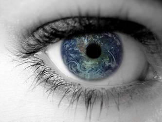 An Eye on the World by mijakai