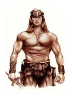 Digital Conan the Barbarain by LevonHackensaw