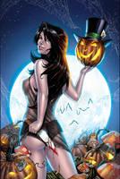 Wonderland Halloween - Black- by SquirrelShaver