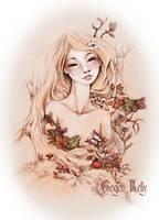 Wood Nymph in Autumn by GingerKellyStudio