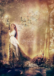 The Lady of the Forest by GingerKellyStudio