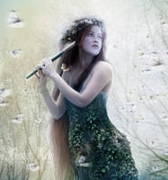 The Dryad Sunlight_Detail by GingerKellyStudio