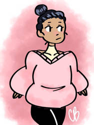 Pink Sweater by chubbybunny125