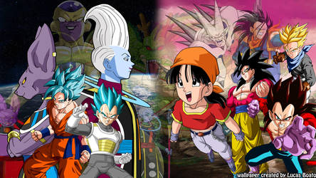 Dragon Ball Super And Dragon Ball Gt Wallpaper By Lucasboato On