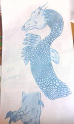 Ice dragon by RufusShinrareno