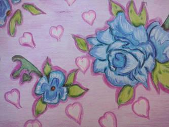 blue roses by RufusShinrareno