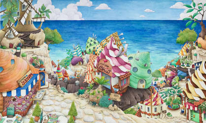 Town of HermitCrab by koimaki