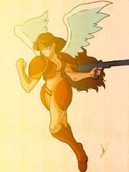 CAPCOM FORSAKEN HEROES #6 - Michelle Heart by kaiserkleylson