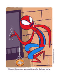 Hipster Spiderman by reed682