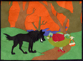 Little Red Riding Hood by stuffed