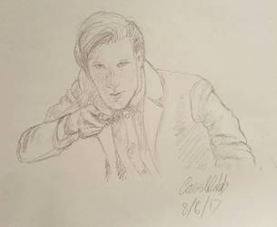 Matt Smith  (11th doctor) sketch by Pamtog
