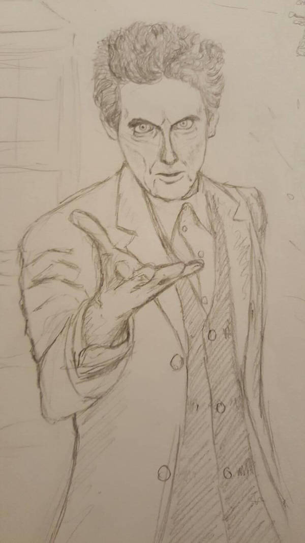 Peter Capaldi sketch by Pamtog
