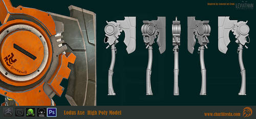 Lodus Axe High Poly by riotorange