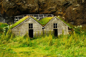 Tiny Viking houses by Lucie-Lilly