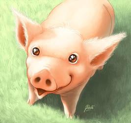 Commission: Piggy Portrait by AmberDust