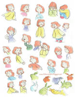 Amber Watercolour Expressions Sheet by AmberDust