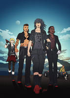 FFXV: The Ladies in Leather Roadtrip by AmberDust