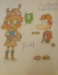 Rayman Adventures (School Drawing) by ClaireAimee