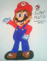 Super Mario  (Copic Markers) by ClaireAimee