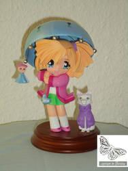 Girl, cat and umbrella1 by Jezebel-Noe