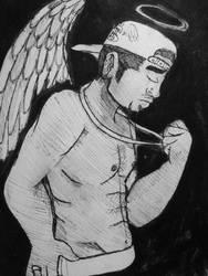 Inktober: Sent from Heaven by diamndz1021