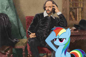 Rainbow Dash Salutes William Shakespeare by 987computer