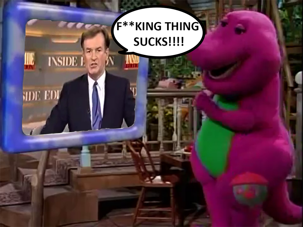 Barney Watches Bill O' Reilly Swear On TV by 987computer