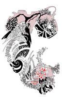 Koi Dragon-Loic's sleeve by Mu63n