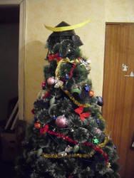 Christmas tree by OkamiKiba13