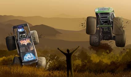Monster Truck Throwdown contest entry by LightningCato