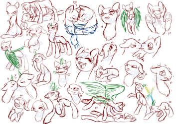 Pony Study 7 by Mondlichtkatze
