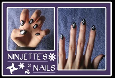 Ninjette's nails by ShadowxSiegfried
